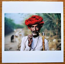 "SIGNED - STEVE MCCURRY RABARI SHEPHERD RAJASTHAN INDIA LTD 6"" x 6"" MAGNUM PRINT"