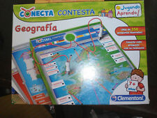 Conecta Geografía. Juego infantil. + 7 años. Clementoni.