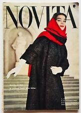 Novità Rivista moda fashion vintage Novembre 1957 Anni Cinquanta Dior Lanvin