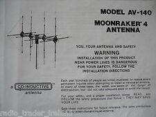 AVANTI MOONRAKER 4 (INSTRUCTION MANUAL ONLY)...........RADIO_TRADER_IRELAND.