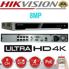 Hikvision 8CH NVR 4K 8MP PoE Network Video Recorder IP HDMI DS-7608NI-K2/8P CCTV