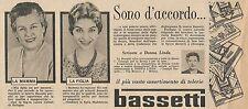 W1759 BASSETTI - Laura Cattoli di Bologna - Pubblicità del 1958 - Vintage advert