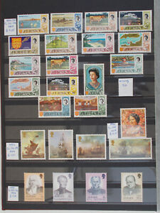 JERSEY good coll. 85 stamps + 3 souv.set +1 FDC all diff. MNH-6 scans # Lot 3471
