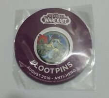 Loot Crate #LootPins August 2016 Anti-Hero Pin, World of Warcraft