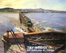 wall decor Tay Bridge Scottish Region 1957 British rail travel posters