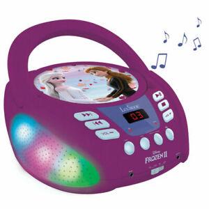 Lexibook Frozen 2 II CD Player Boombox Bluetooth Portable Disney Kids - Purple