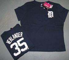 """NWT Majestic® Womens """"JUSTIN VERLANDER"""" #35 TIGERS jersey T-Shirt Tee MEDIUM M"""