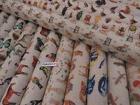 Digital Printed Linen Cotton Fabric - Curtain Upholstery Blinds Crafts Cushions
