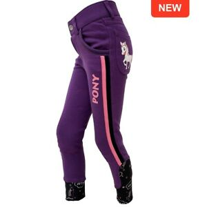 "Gallop Children's PONY Breeches. Fun riding wear. Pink, Blue or Purple.18"" - 26"""