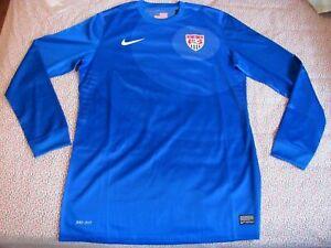 Women's Nike USAMNT Goalkeeper Training L/S Jersey Dri-Fit Blue [449640/Medium]