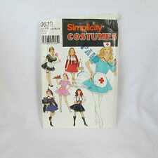 1999 UNCUT Womens Nurse Pirate Maid Costumes Simplicity Sewing Pattern HH #0639