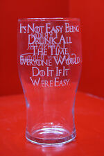 Laser Engraved Pint Glass Game Of Thrones Its Not Easy Being Drunk All The Time