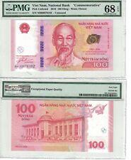"""Viet Nam 100 Dong 2016 """" Commemorative """" PMG: 68 Superb GEM UNC. (#1654)"""