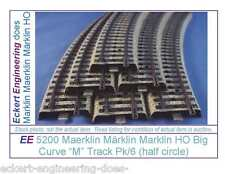 EE 5200 LN Marklin HO Big Radius Curve M Track Pack 6 Pieces LikeNew Condition