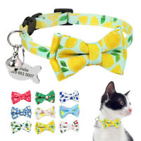 Personalisiertes Katzenhalsband Sicherheitsverschluss GRAVUR mit Adressanhänger