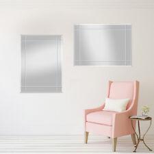 Wandspiegel Spiegel Jan 70x90 cm mit Rillenschliff Facettenspiegel rahmenlos