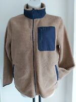Common People REGENT size M camel navy TEDDYBEAR oversized 12 14 NEW - Free post