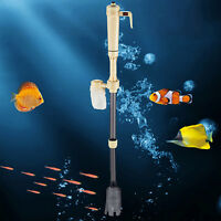 Aquarium Fish Tank Gravel Vacuum Siphon Cleaner Pump Water Syphon Filter Battery