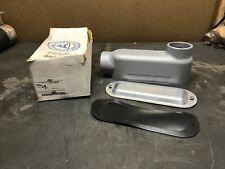 Appleton LB200-M Conduit Body, Type: LB, Size: 2'', Form 35, Malleable Iron