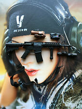 VERYCOOL ACU Camo Female Shooter Assault Rifle & Sling loose 1/6th scale