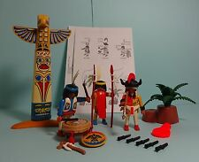 Playmobil Western ~ Totempfahl/Totem Pole & Indianer + Anleitung/Manual (3873)