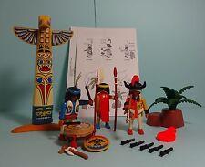 Playmobil Western ~ tótem/Totem pole & indios + instrucciones/Manual (3873)
