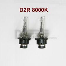 A PAIR 35W D2R Xenon HID Bulbs Globe Replacement Cool Blue 8000K - METAL FRAME