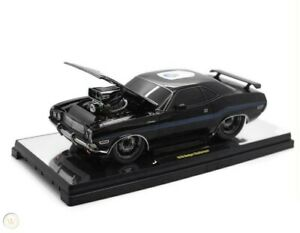 1970 Dodge Challenger GP Drag Wheels (75th Anniversary) Black 1:18 Scale By M2