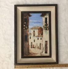 Vintage Signed Palette Knife Oil on Canvas Painting