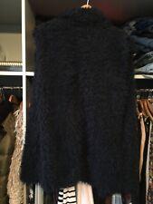 Zara Medium Gilet Faux Fur Blue