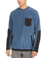 DKNY Mens Sweater Denim Blue Size 2XL Crewneck Pullover Pocket-Front $89 #058