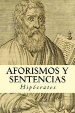 Aforismos y Sentencias by Hipócrates (2016, Paperback)