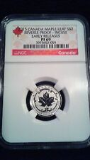 2015 Canada Maple Leaf Silver 2 Dollar Reverse Proof Incuse Early Releases PF69
