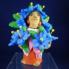 Signed Mexican Folk Art Figurine By Josefina Aguilar