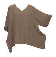 Match Point Linen Kimono Tunic NWT Mocha  Oversized  Plus Size 1X 2X