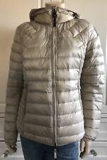 PARAJUMPERS beige sand JULIET lightweight hooded short quilted down jacket UK12