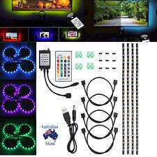 4X 50CM RGB 5050 LED Strip Light USB Color Changing TV PC Monitor Back Lighting