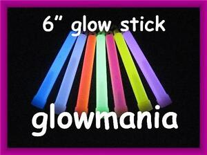 """6"""" GLOW STICKS, GLO RAVE, PARTY, CAMPING, DISCO, DIVING SAFETY, PTA FUNDRAISING"""