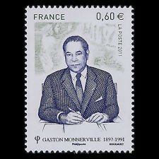 "France 2011 - Death of Gaston Monnerville ""1897-1991"" - Sc 4111 MNH"