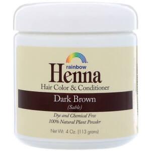 Rainbow Research Henna 100% Natural Hair Colour Conditioner Dark Brown 113 g