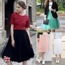 Size M Vintage Rockabilly Tulle Skirt Long Tutu Petticoat Ballet Ball Gown Dress