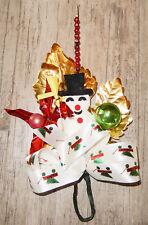 CHRISTMAS Felt Snowman Corsage NEW/VINTAGE stk PACKAGE Ties picks GREEN