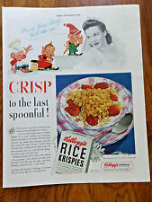 1941 Kellogg's Rice Krispies Ad Snap Cracle Pop Guys June Bride Beautyrest Ad