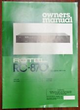 Rotel RC-870 Amplifier ORIGINAL Owners Manual