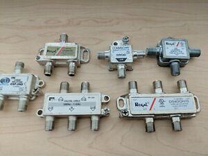 6 Coaxial Coax Cable Digital Splitters 4-way and 2-way regal 3.5db 6db 5MHZ Idea