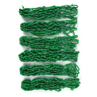 6x/Lot green billiard pool snooker table cotton mesh net bags pockets club. FO