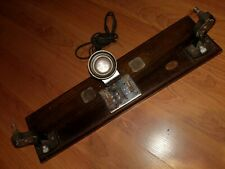 Vintage Keystone Boston Film Splicer Editor wooden base eyepiece and light works