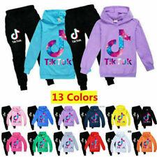 Boys Girls Kid Tik Tok Hoodie Pants Suit Long Sleeve Tracksuit Sportswear Casual