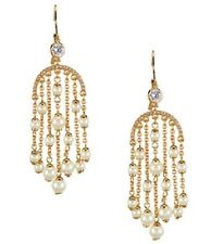 Pearl Drop Earrings Gold Tone $98 New Kate Spade Pearl Of Wisdom Chandelier