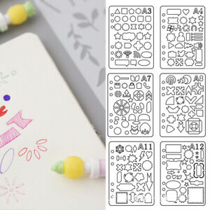 Plastic Cutting Craft Stencil Planner Drawing Bullet Journal Template DIY Diary